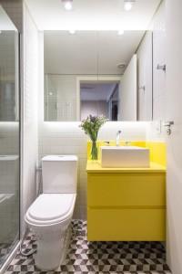 muebles de baño - amarillos